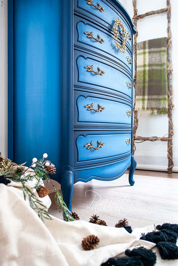 Blended Blueberry Painted French Provincial Dresser