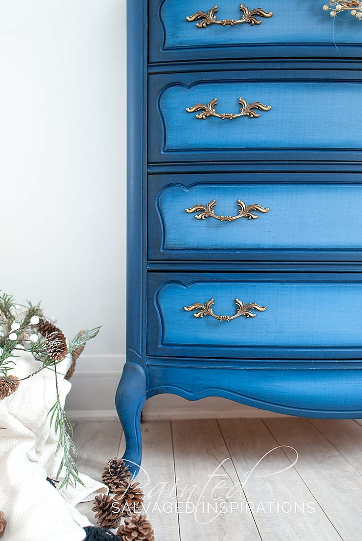Blueberry Painted French Provincial Dresser