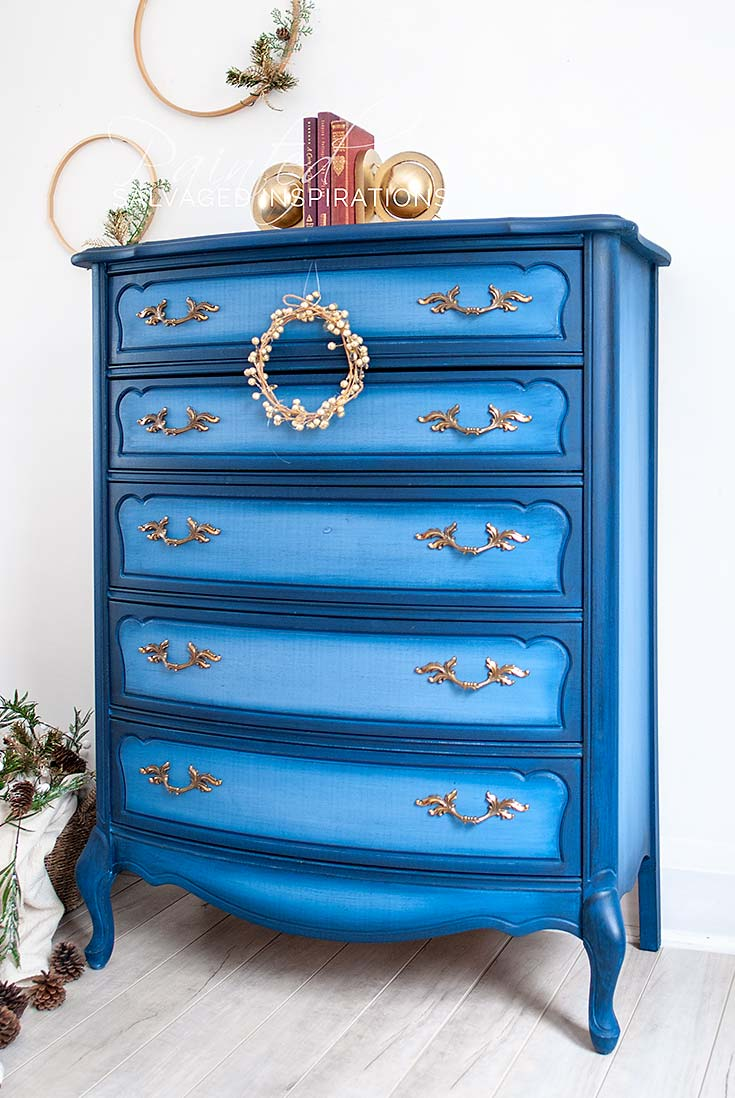 DB Blueberry Painted French Provincial