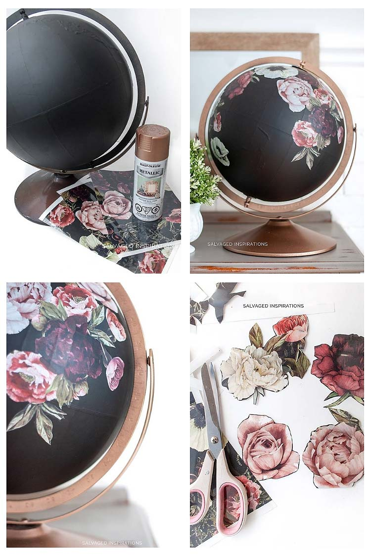 DIY Floral Transfer Globe