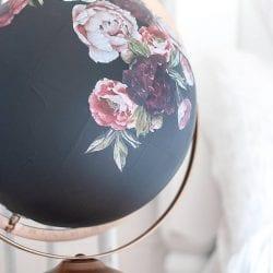 DIY Painted Globe w Rub-On ReDesign Transfers