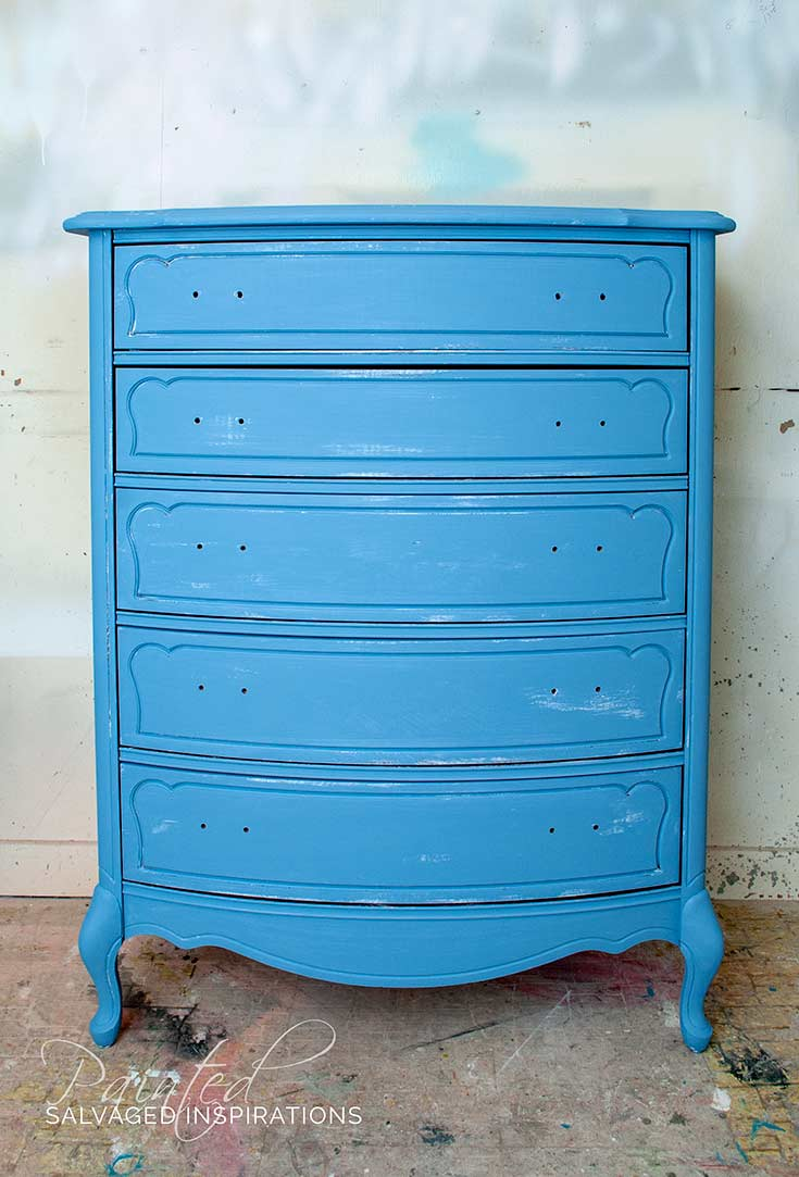 Dixie Belle Blueberry Painted Dresser