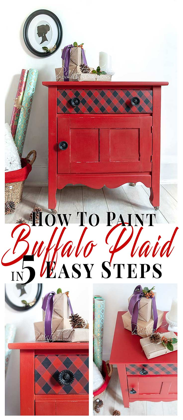 How To Paint Buffalo Plaid in 5 Easy Steps
