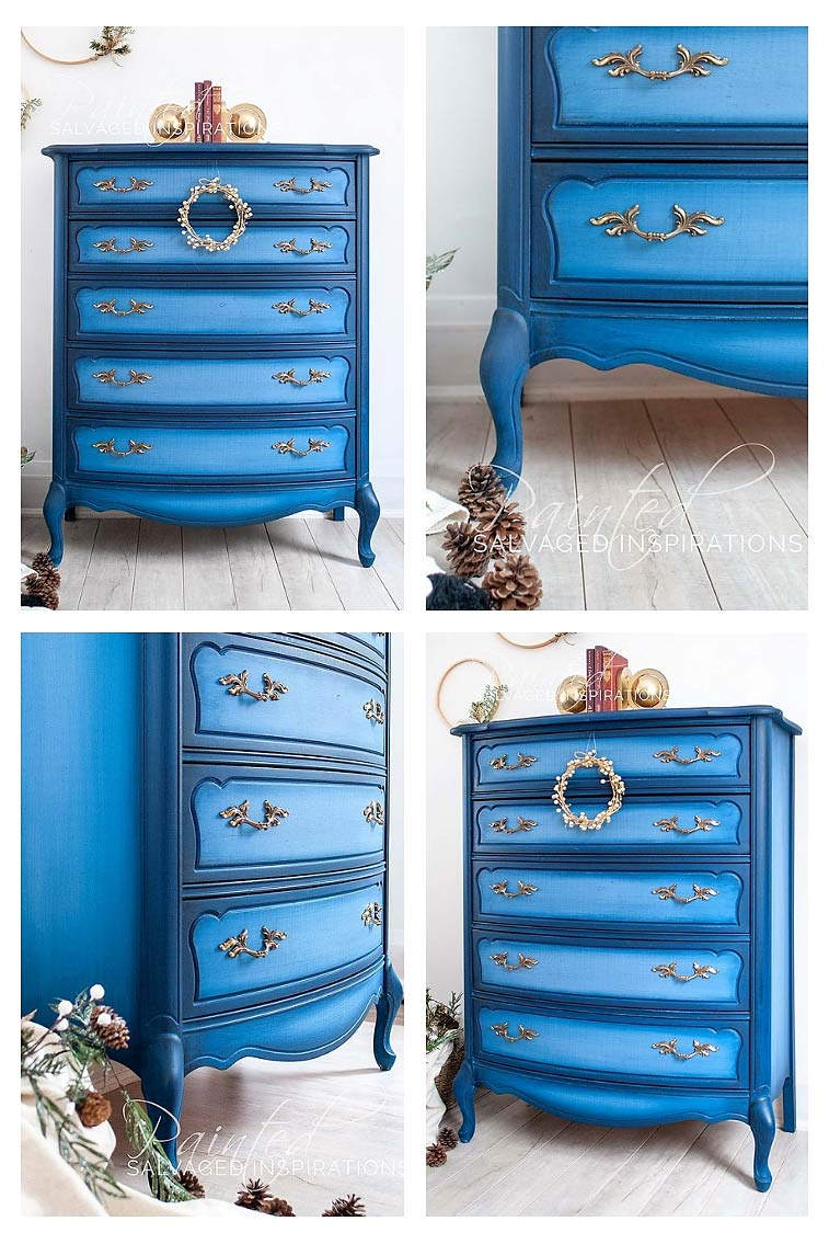 Painted French Provincial - Blueberry Collage