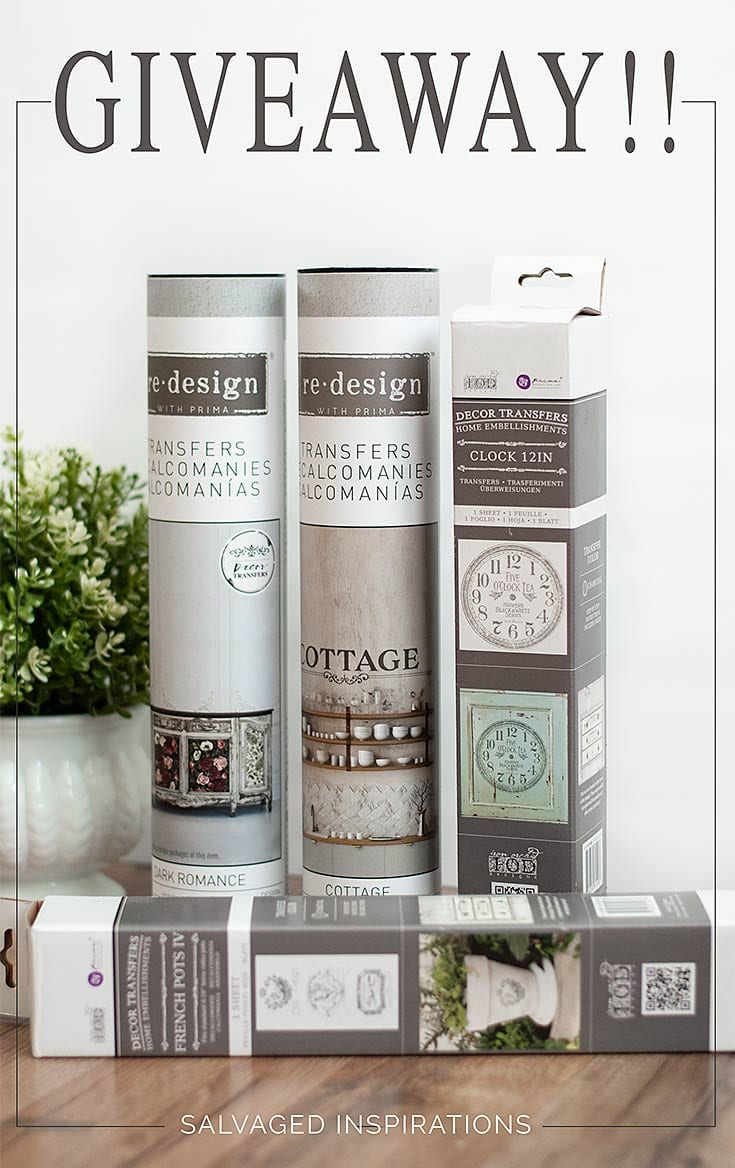 ReDesign With Prima and Salvaged Inspirations Giveaway_