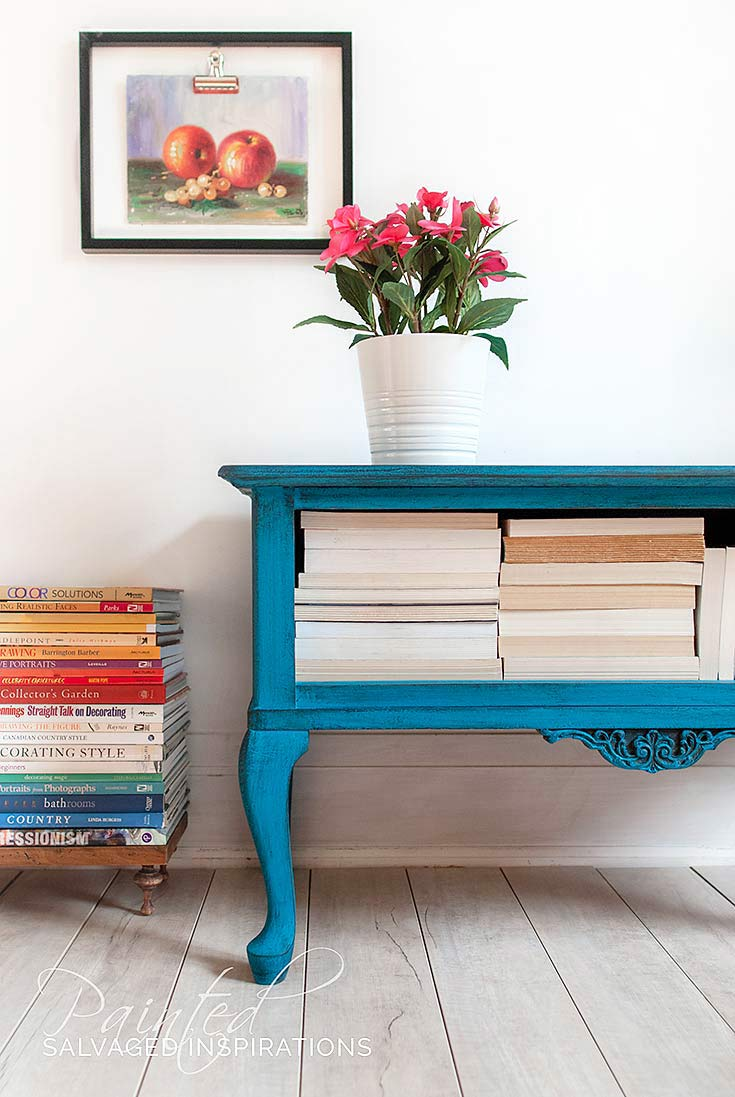 Salvaged End Table Makeover1 - Painted Furniture