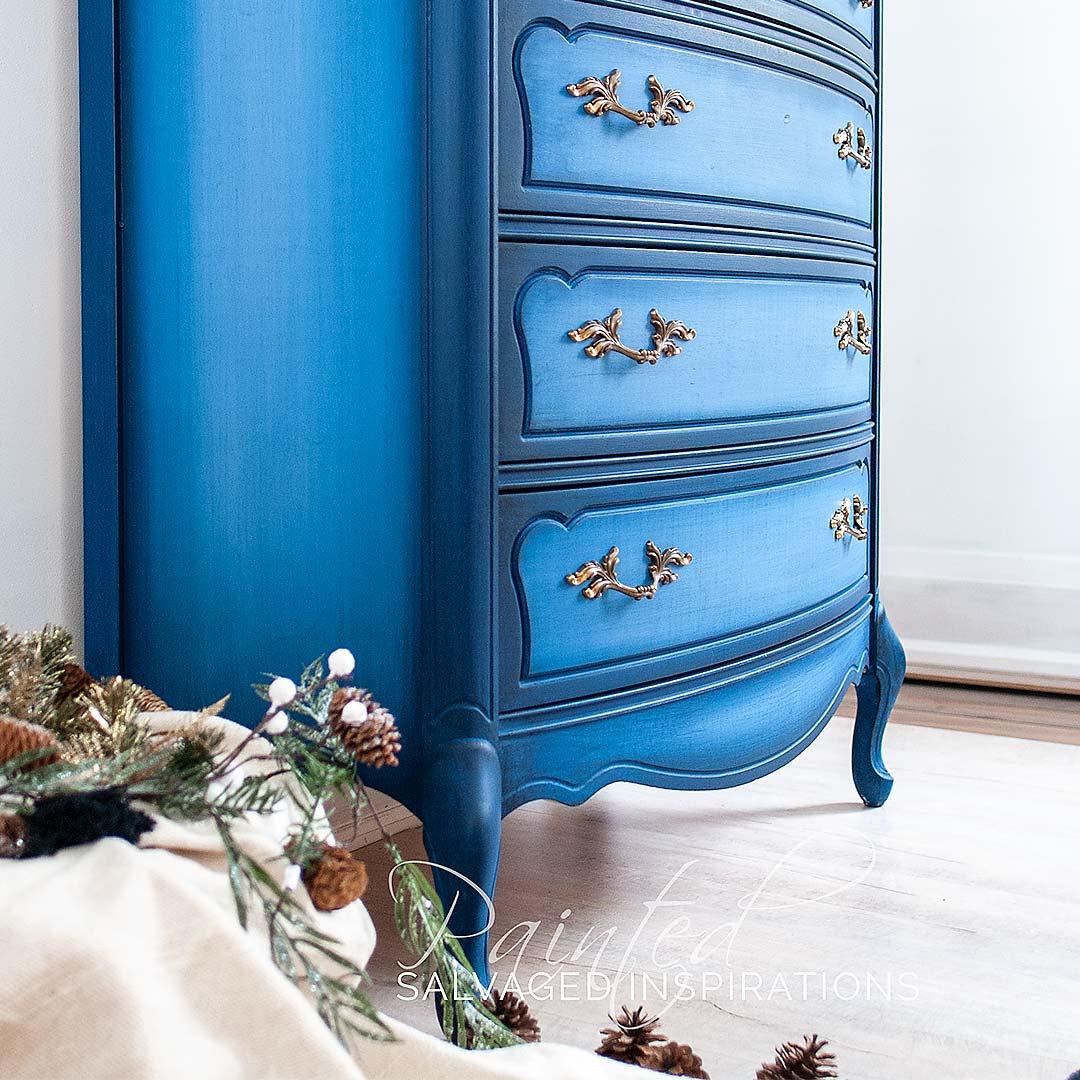 Side of Blended Blueberry Painted Dresser IG