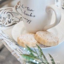 Christmas DIY Tray w Cookies and Coffee