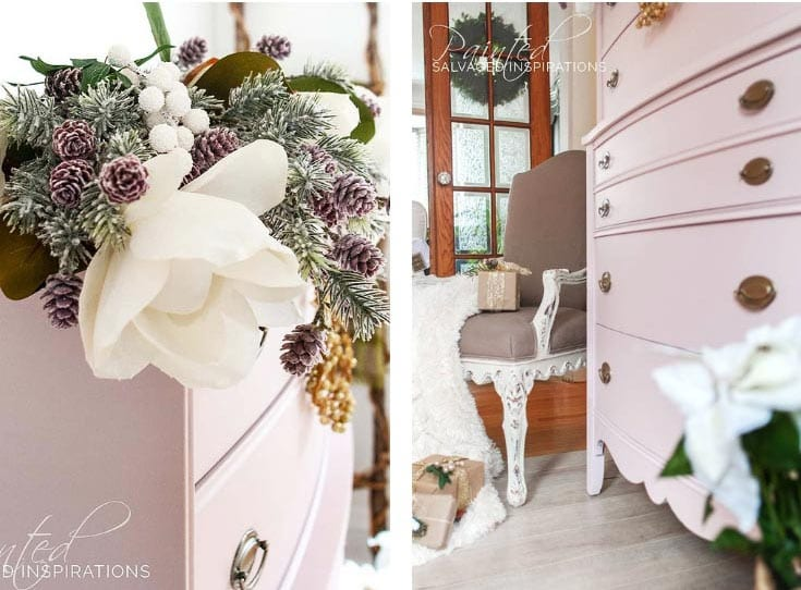 DB Pink Champagne Christmas Dresser Makeover2