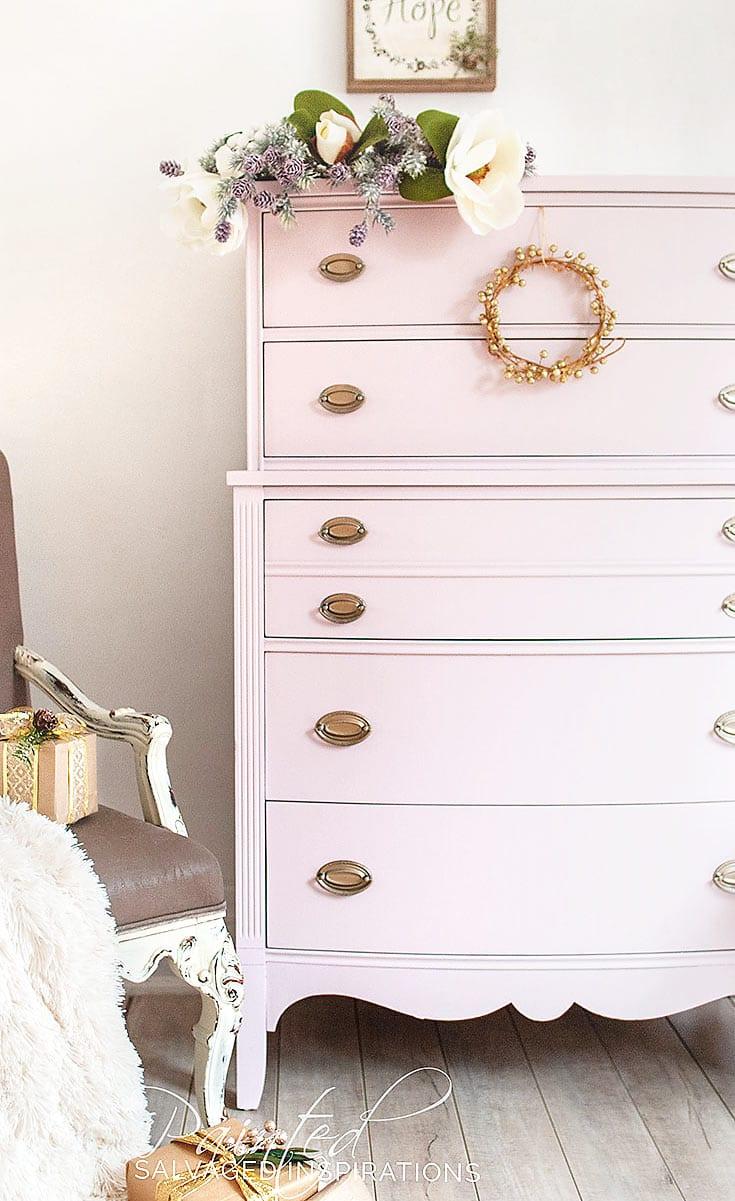 DixieBelles Pink Champagne Dresser Makeover