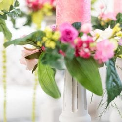 Close Up of Chair Leg Pillar Candle Holders