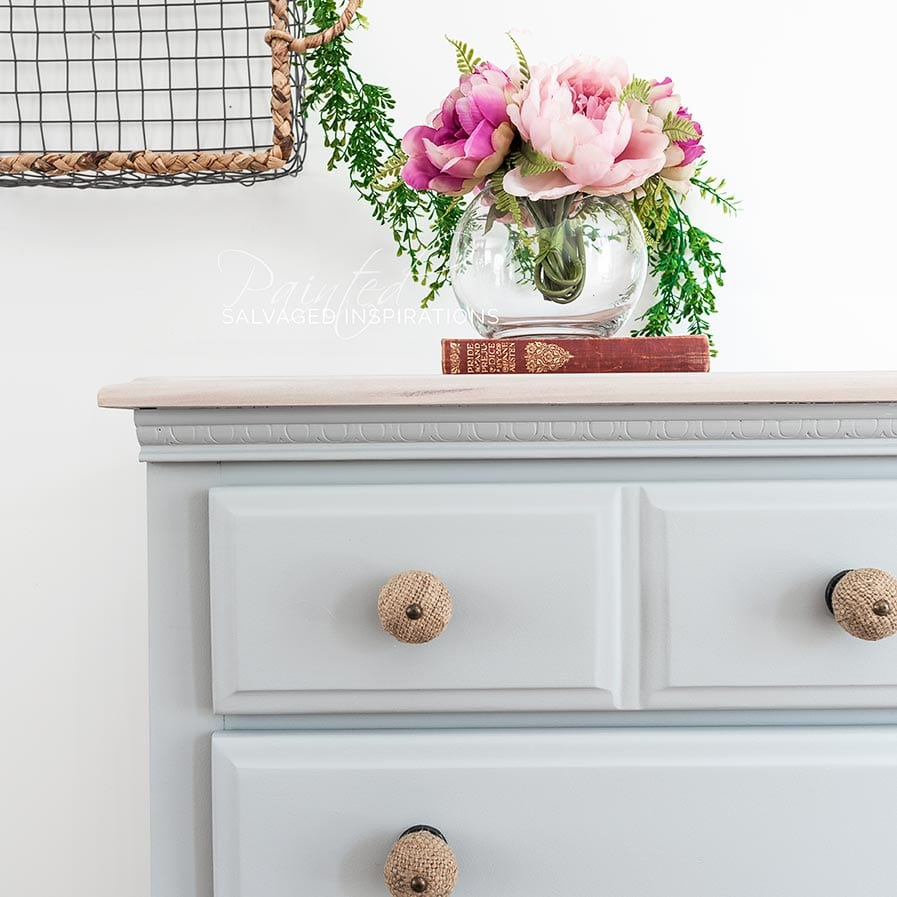 Close Up of Salvaged DIY Dresser MakeoverIG