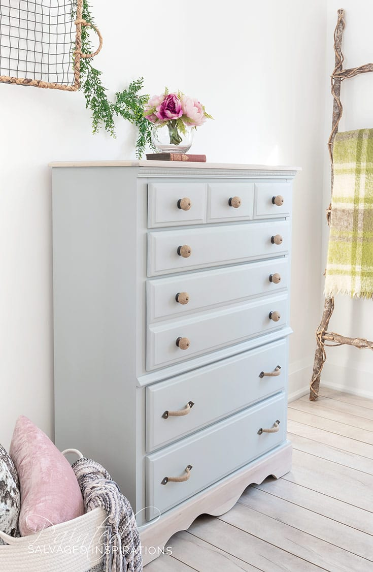 DIY 80S Salvaged Inspirations Dresser Makeover