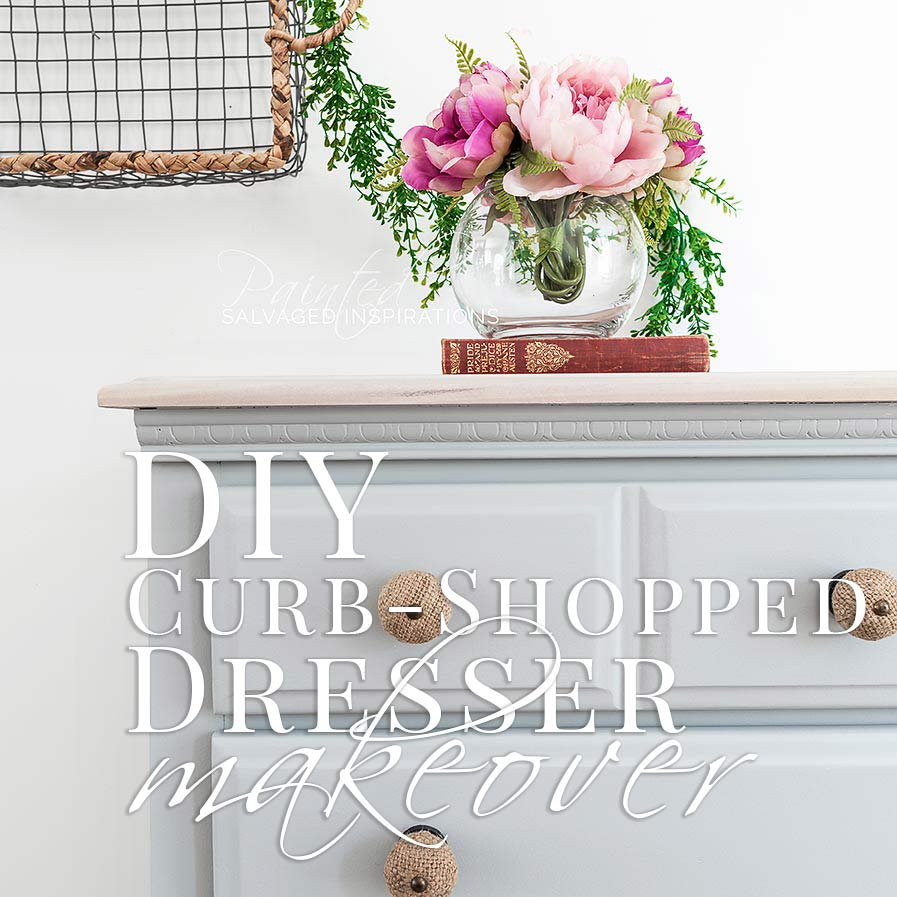 DIY Curb-Shopped Dresser Makeover SIBlog