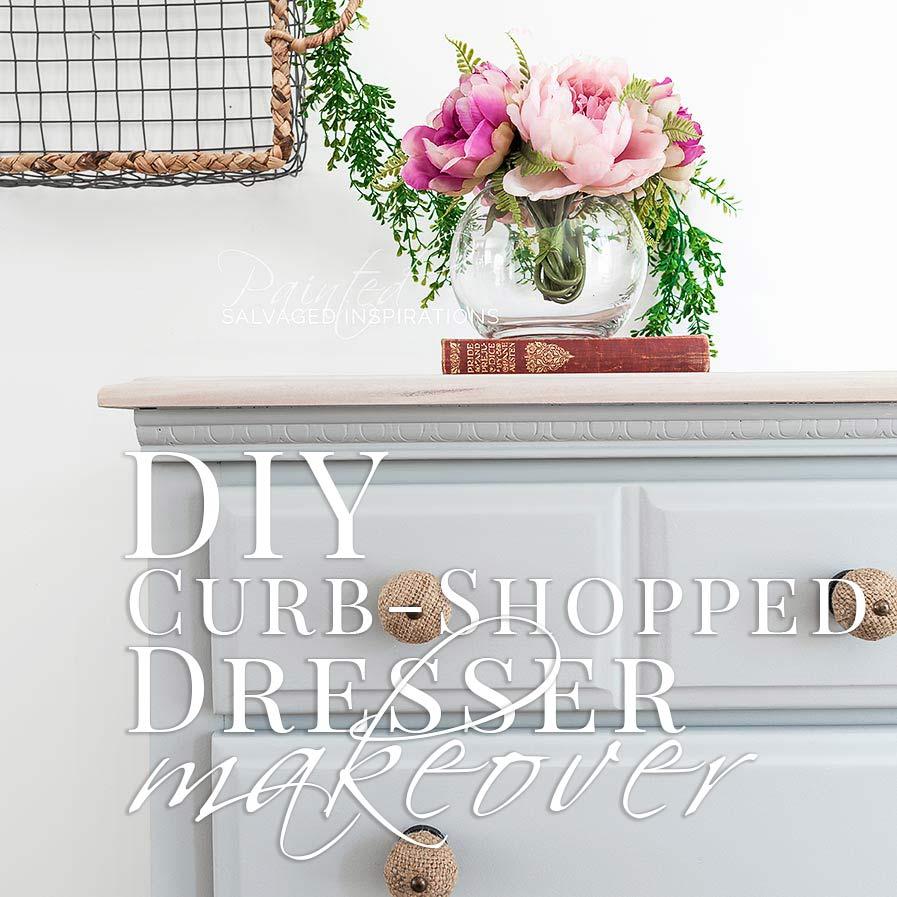 DIY Curb-Shopped Dresser Makeover SIBlog
