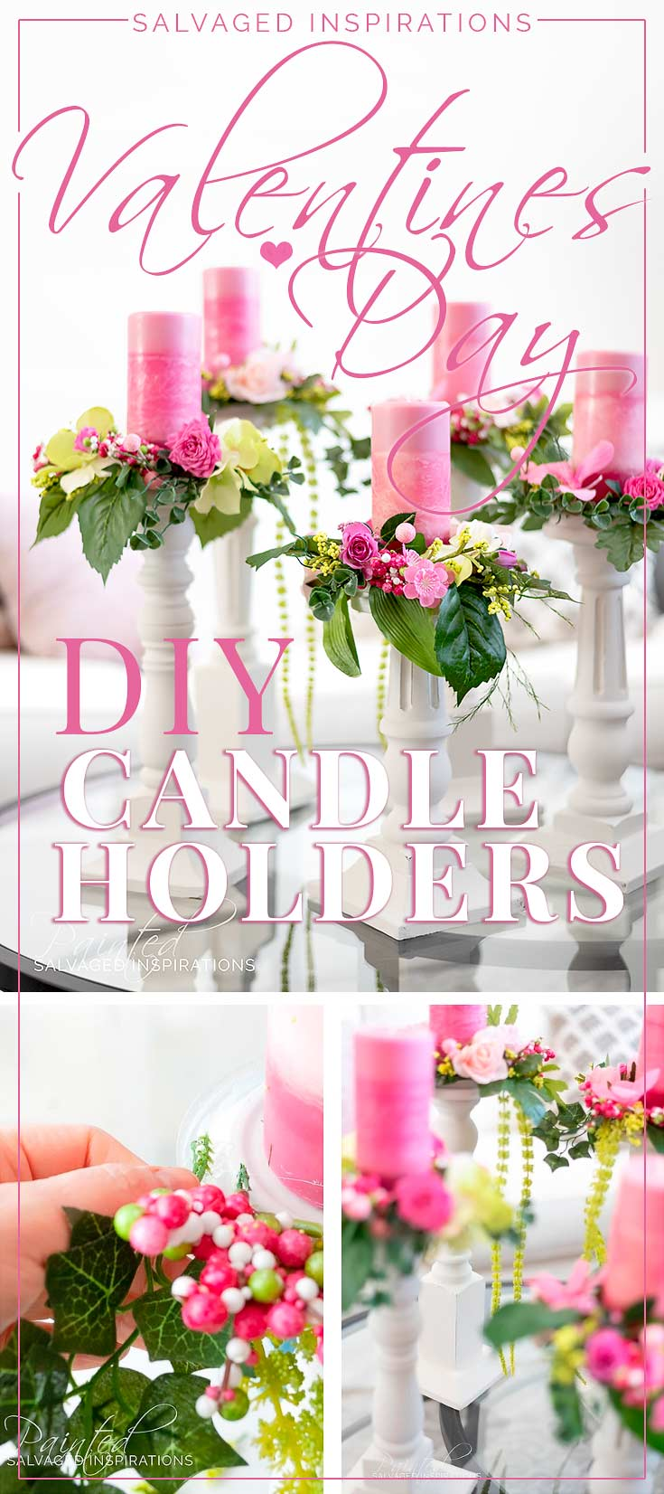 DIY Wooden Candle Holders from Salvaged Chair Legs