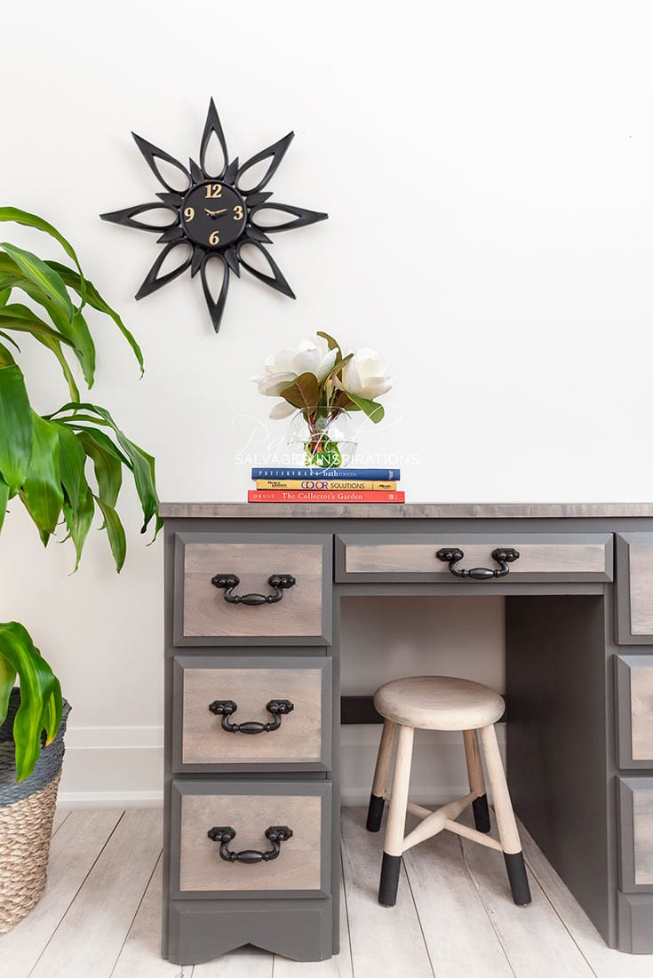 Old Desk Makeover - Salvaged Inspirations