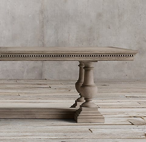 Restoration Hardware Pedestal Table