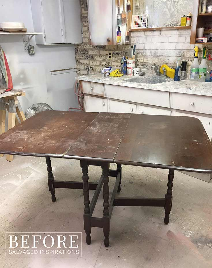 Vintage Gate Table Drop Leaf - Before