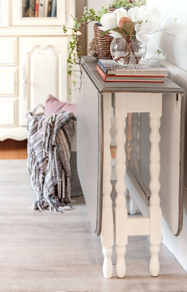 Weathered Wood DIY Restoration Hardware Gate Table Restyle