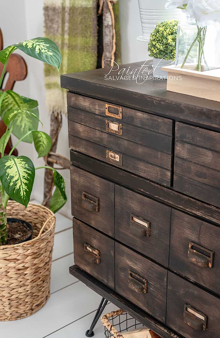 Apothecary Cabinet w DIY Faux Drawers