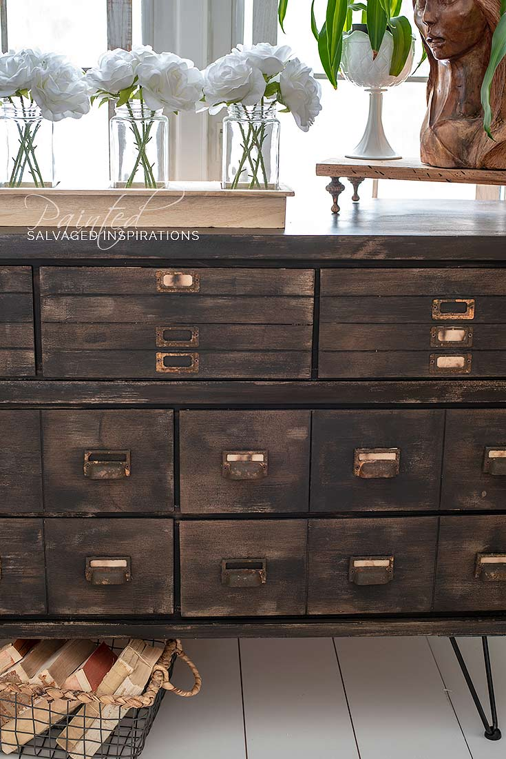 DIY Faux Drawers On Dresser to Apothecary Cabinet