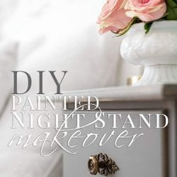 DIY Painted Night Stand Makeover