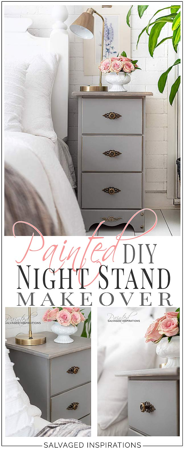 Painted DIY Night Stand Makeover