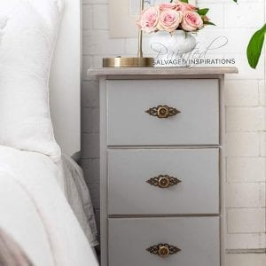 Repurposed Desk into Painted Nightstands