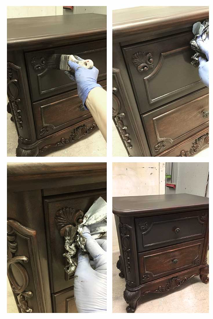 How To Create A Black Wash Paint Finish Salvaged Inspirations