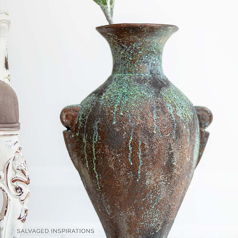 Bronze Painted Patina Vase IG