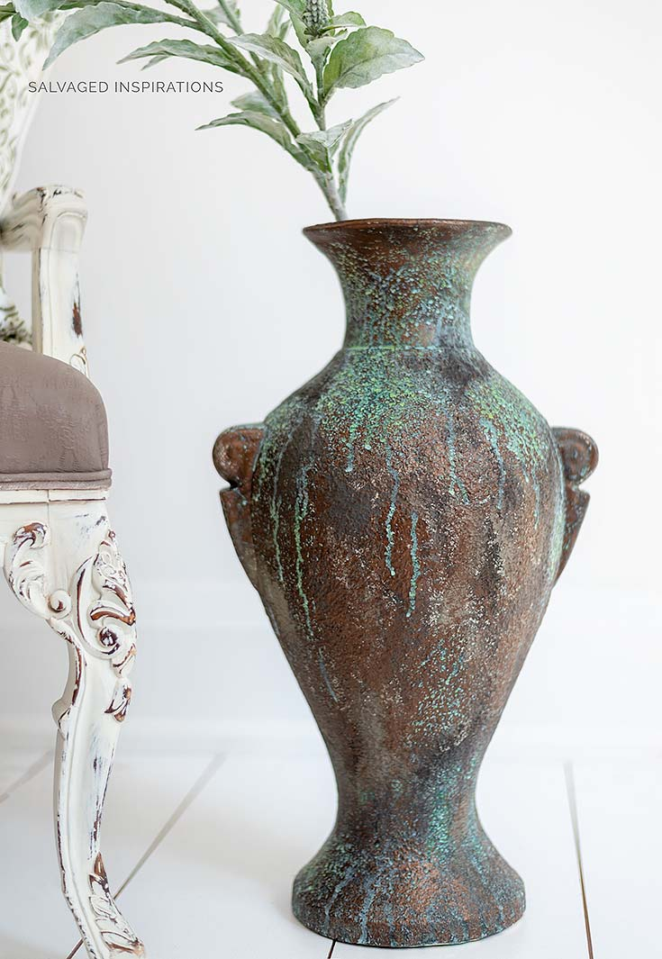 Bronze Painted Patina Vase