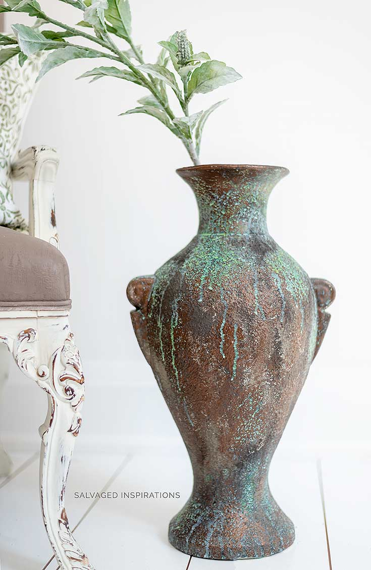 Bronze Painted Patina on Thrift Floor Vase