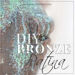Close Up of DIY Painted Bronze Patina IG