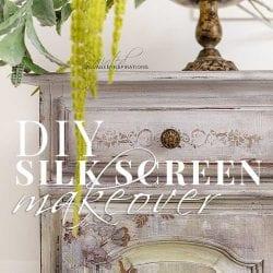 DIY Silkscreen Buffet Makeover