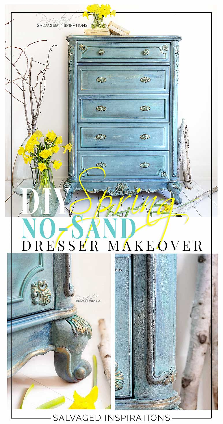 DIY Spring No-Sand Dresser Makeover