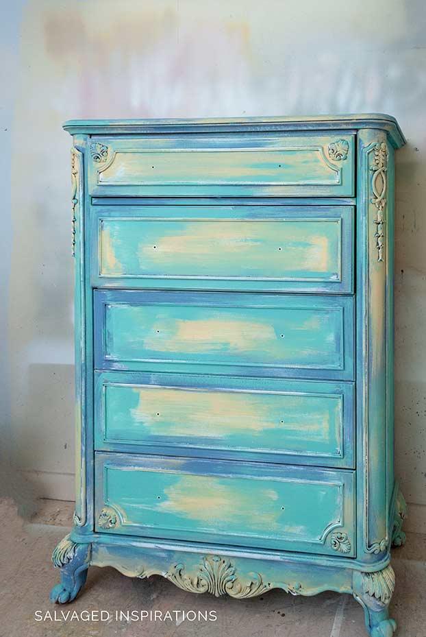 Dixie Belle Painted TallGirl Dresser w Slick Stick
