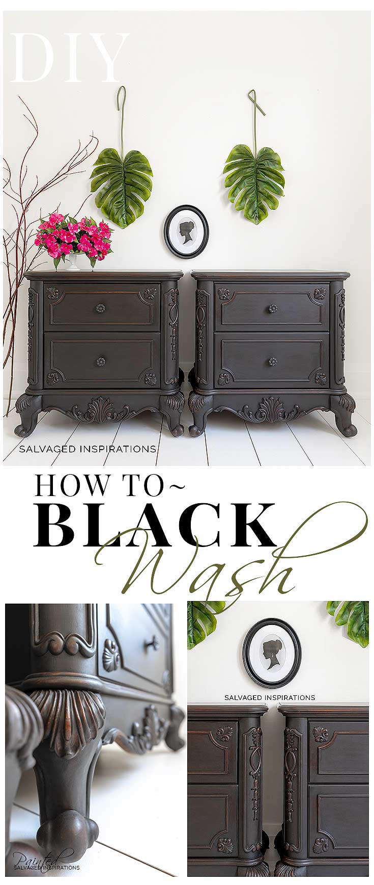 How To Create A Black Wash Paint Finish Salvaged