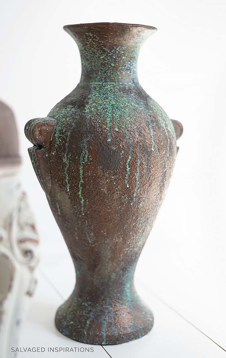 Patina Painting Techniques on Bronze Vase