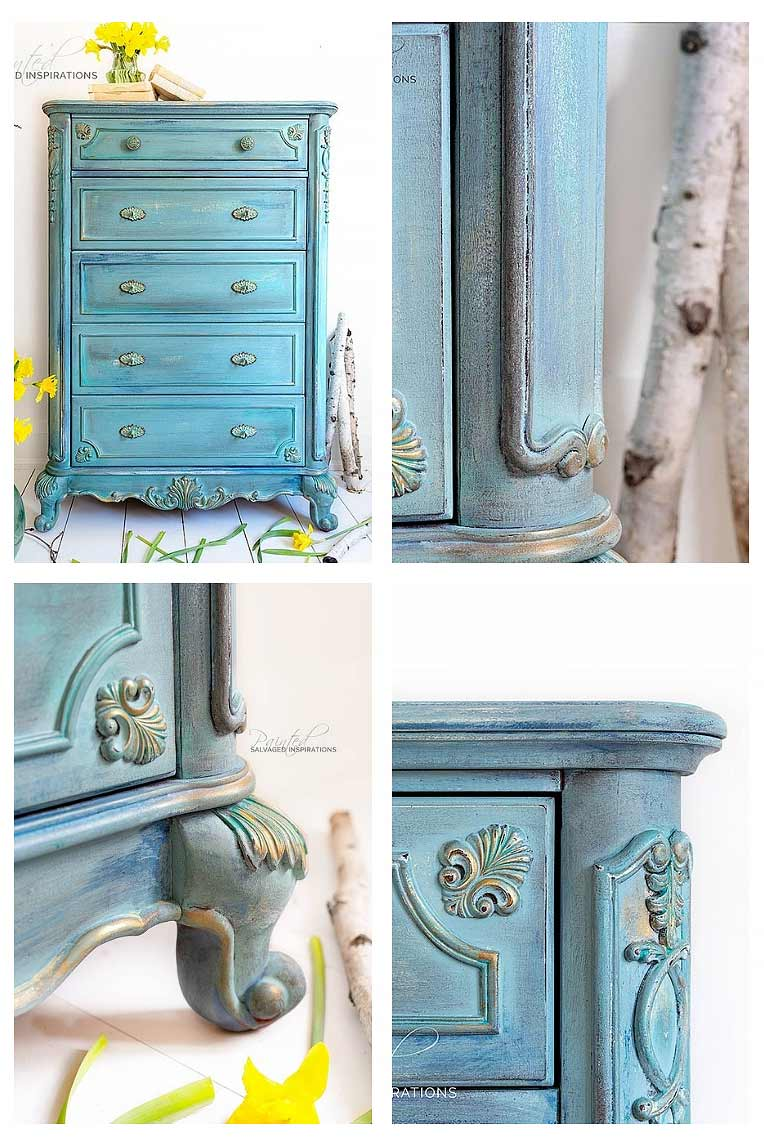 Spring Inspired TallGirl Dresser - Painted Furniture