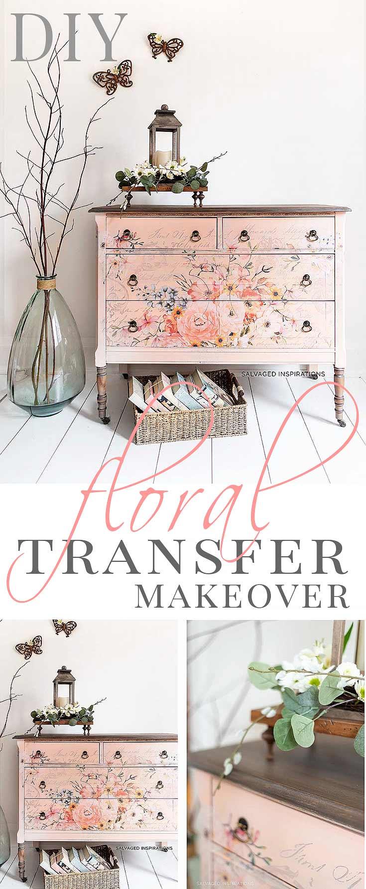 DIY Floral Transfer Makeover
