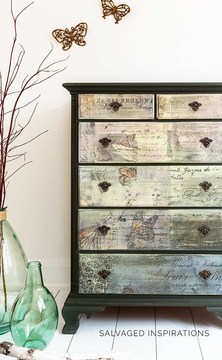 Monarch Butterfly Collage Dresser