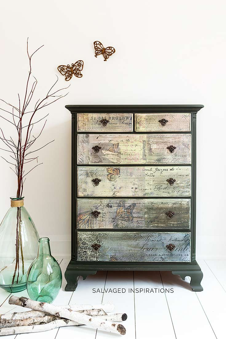 Monarch Grace Butterfly Collage Dresser