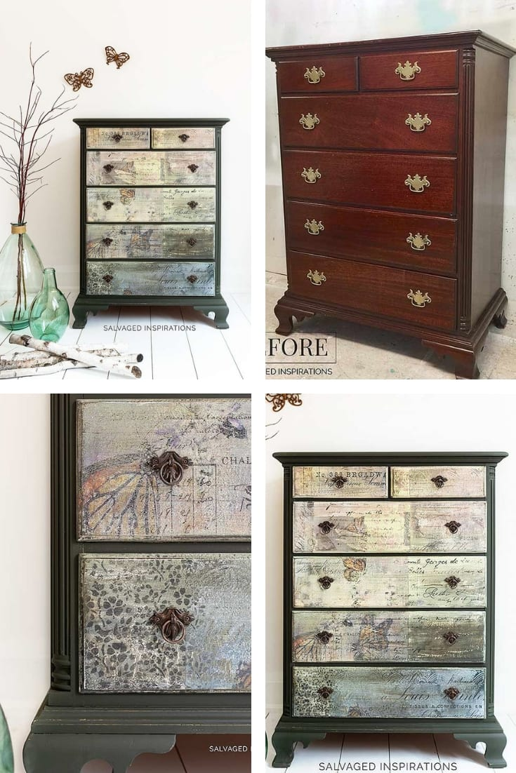 Monarch Grace Collage Dresser Before and After