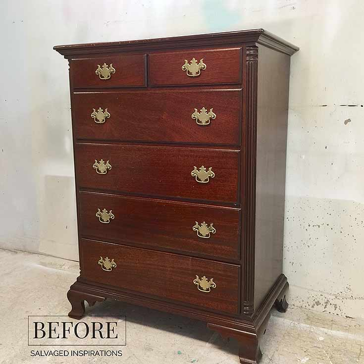 Monarch Grace Collage Dresser - Before