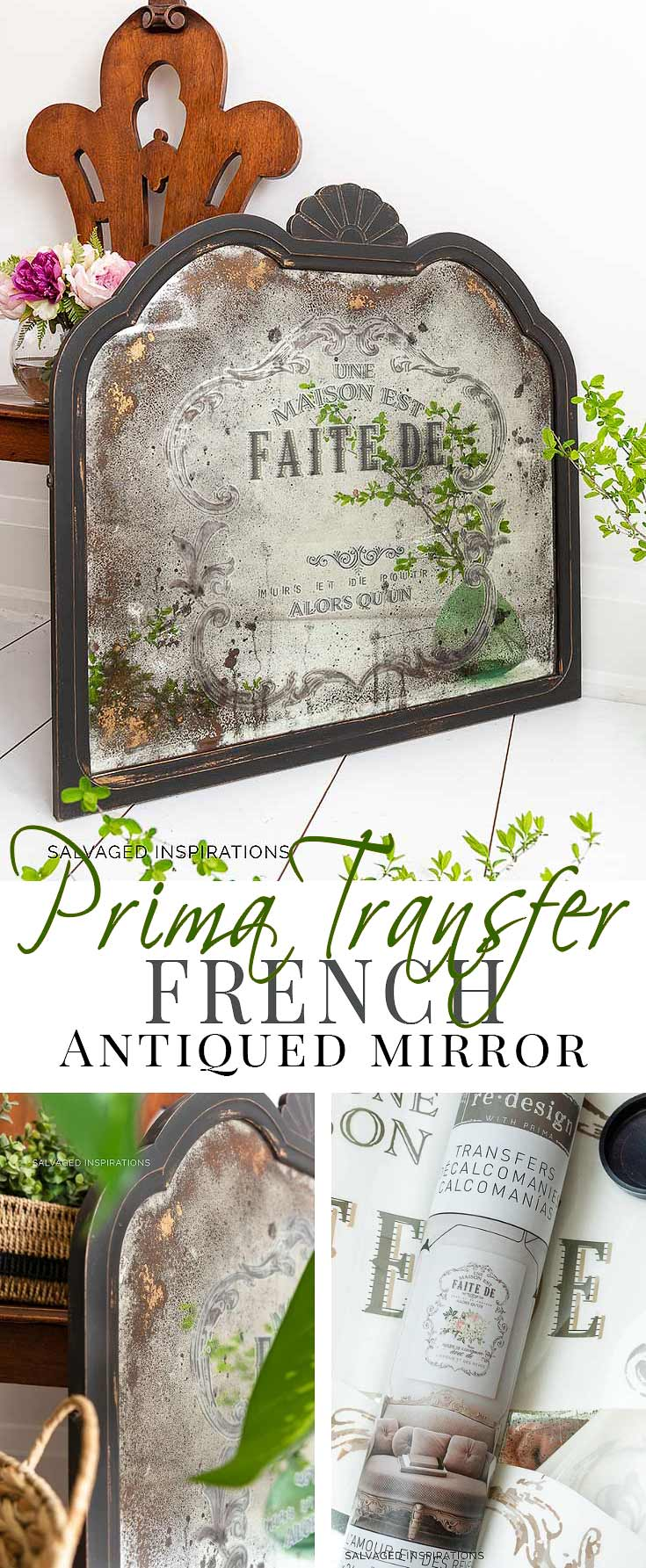 Prima Transfer French Antiqued Mirror