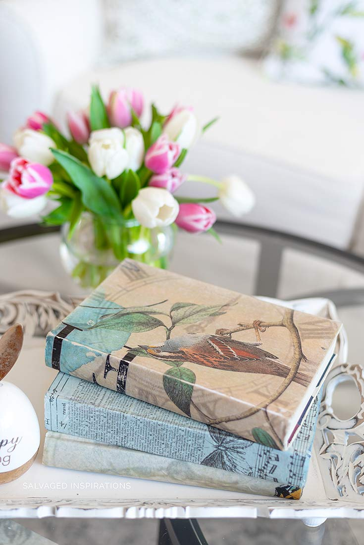 Spring Inspired Book Bundles w Tulips