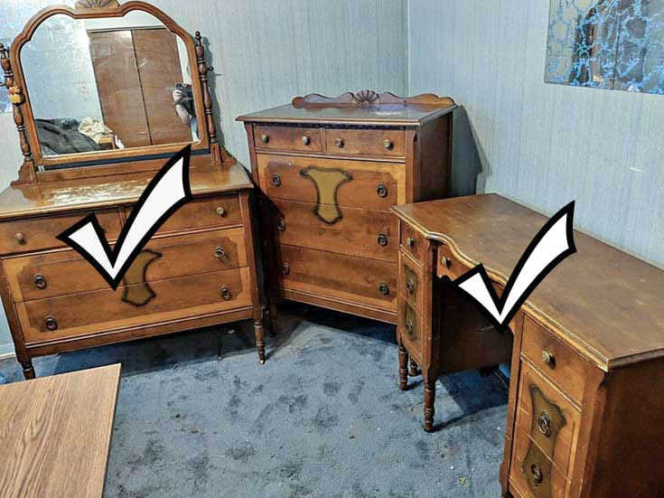 Vintage 3pc Bedroom Set 2 Down 1 To Go