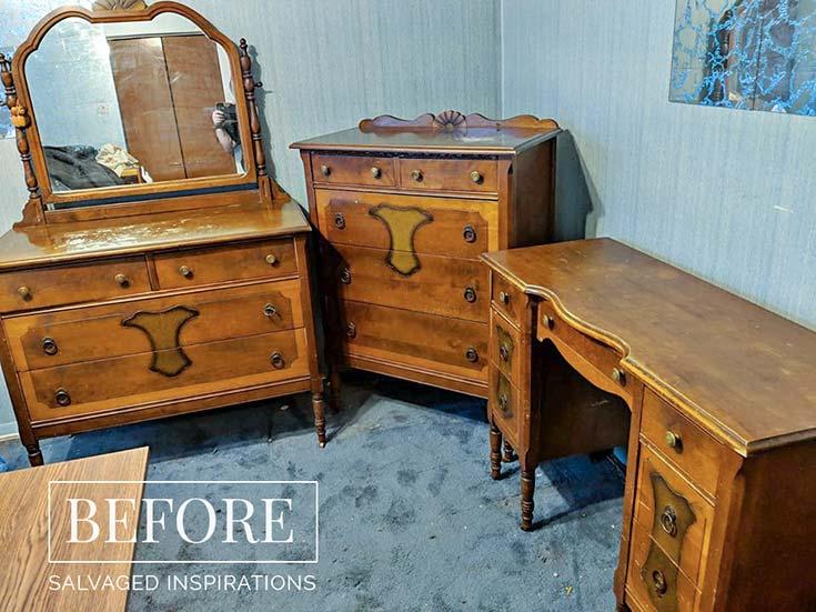 Vintage 3pc Bedroom Set Sellers Pic