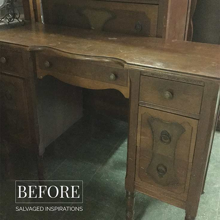 Vintage Desk Makeover Before IG